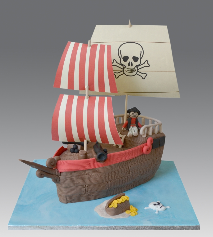 Playmobil Pirates Ship on Cake Central