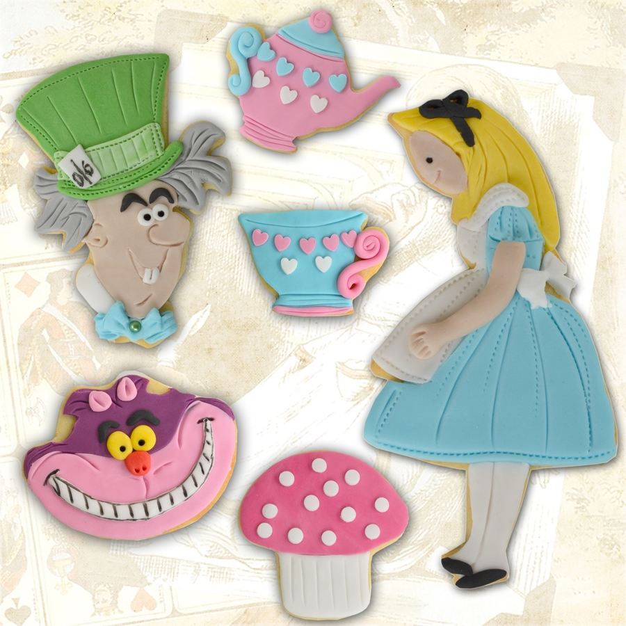 Alice In Wonderland Cookies on Cake Central
