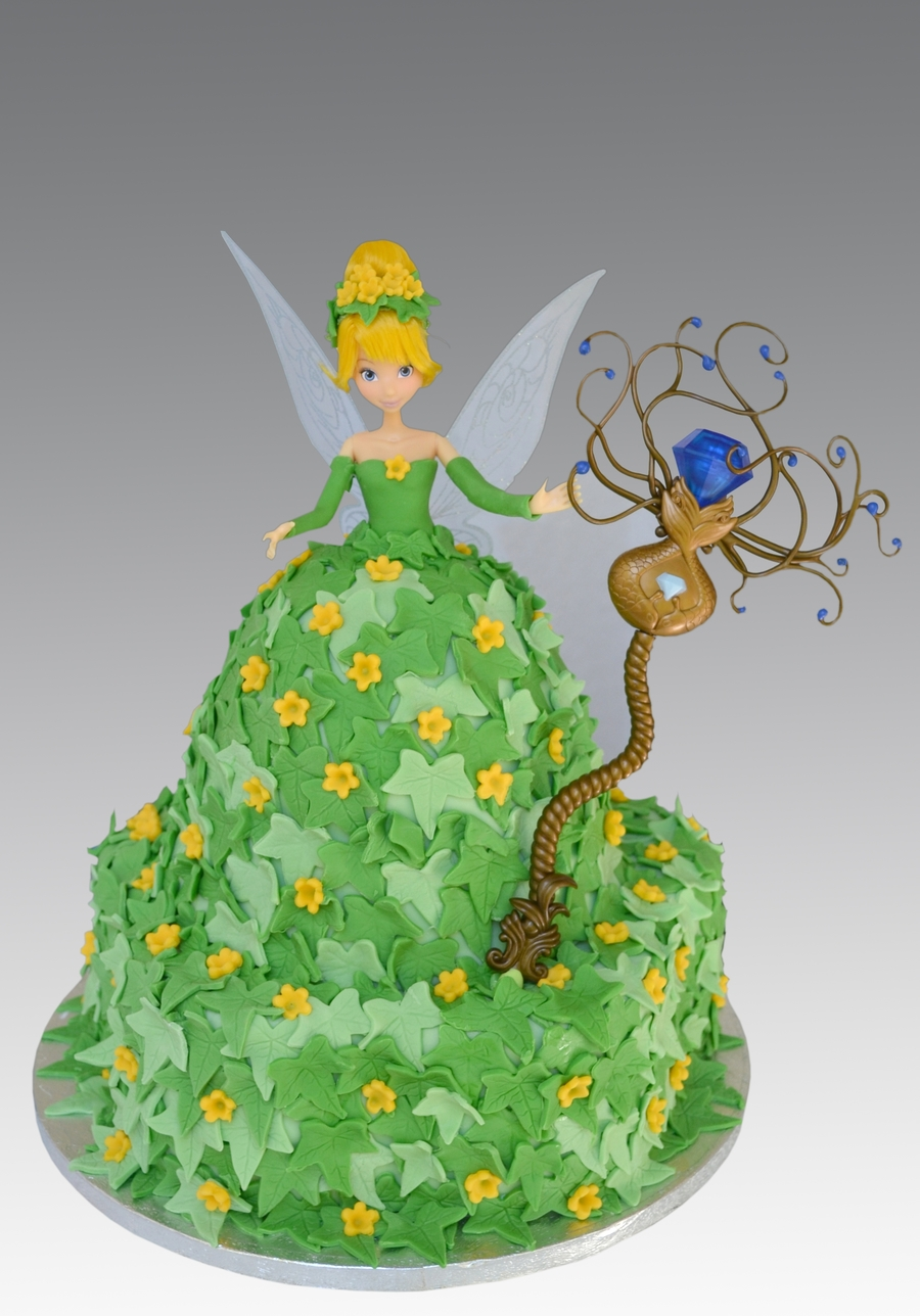 Tinkerbell Magic Wand Cake on Cake Central