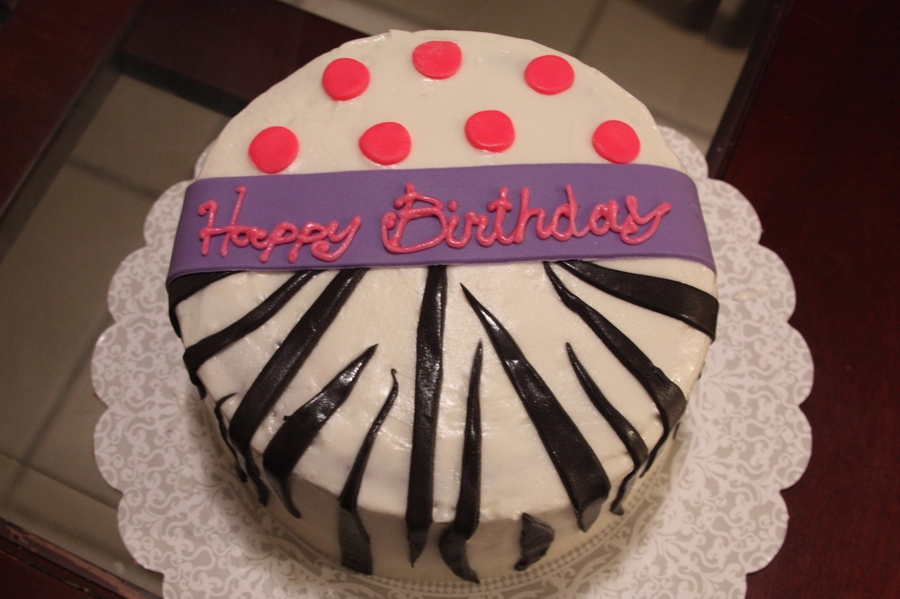 Zebra Polka Dot on Cake Central