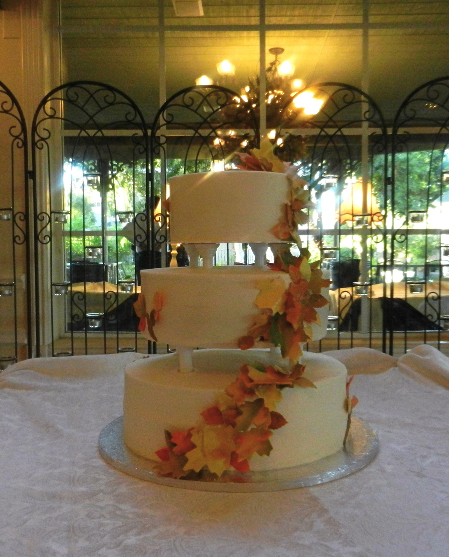 Fall Leaves on Cake Central