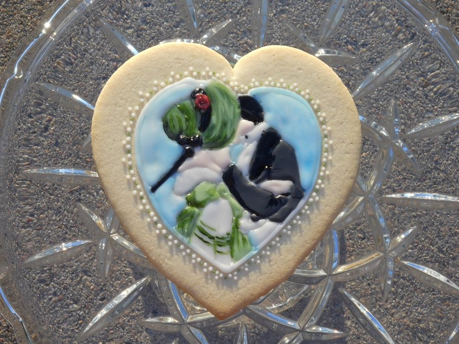 Victorian Kiss Cookie on Cake Central