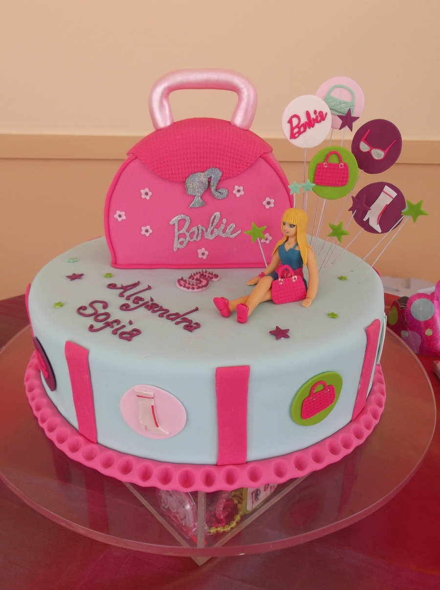 Barbie Theme Cake on Cake Central