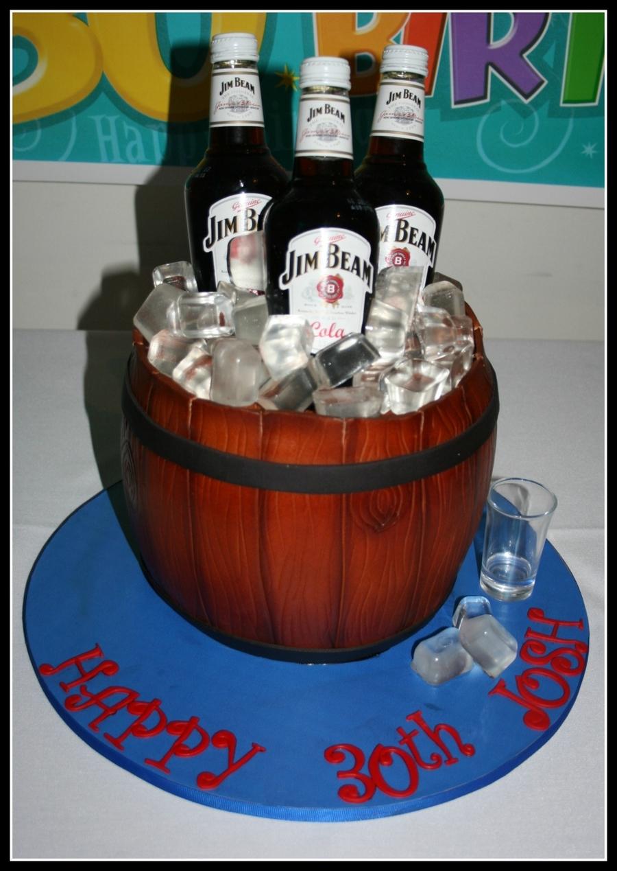 Jim Beam Barrel Cake - CakeCentral.com