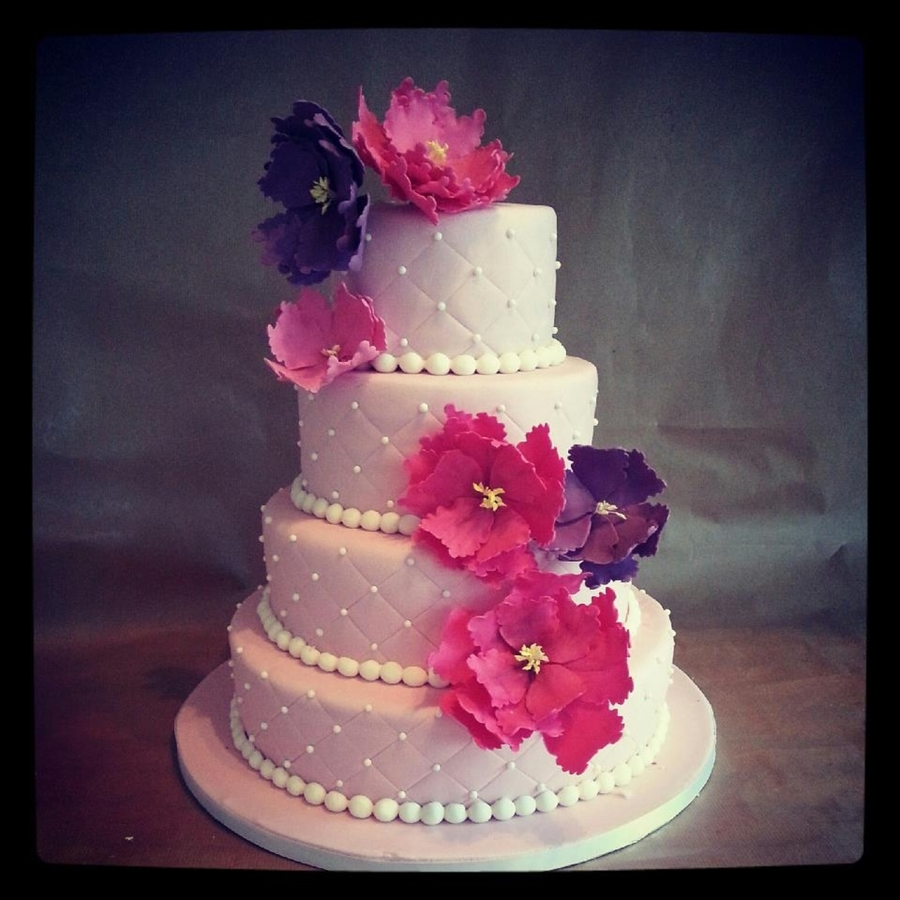 Pink Wedding  on Cake Central
