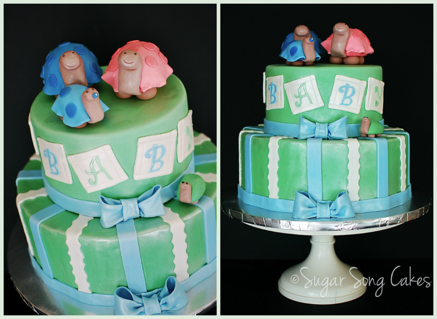 Turtle Love! Baby Shower Cake on Cake Central