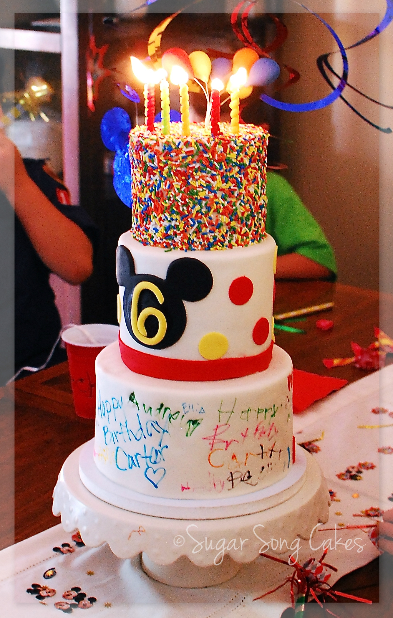 Autograph Mickey Birthday Cake Cakecentral