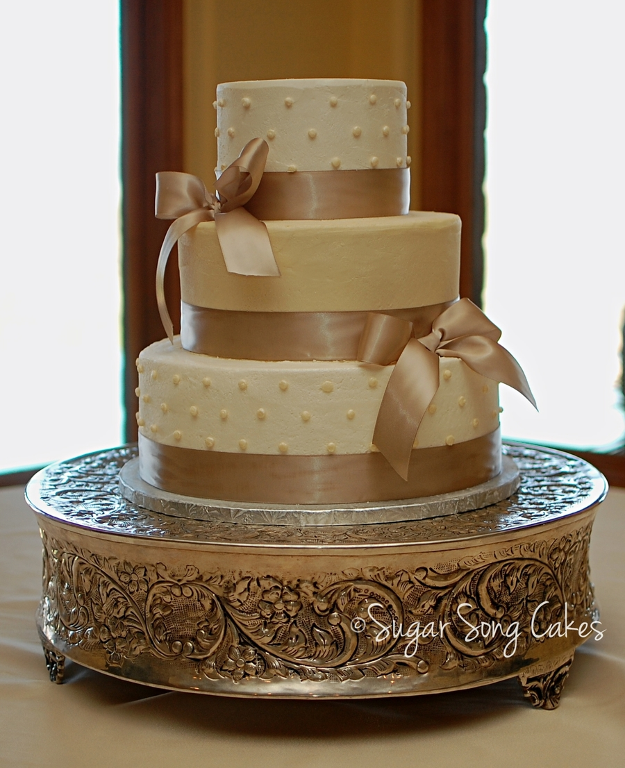 Satin Bow Wedding Cake on Cake Central