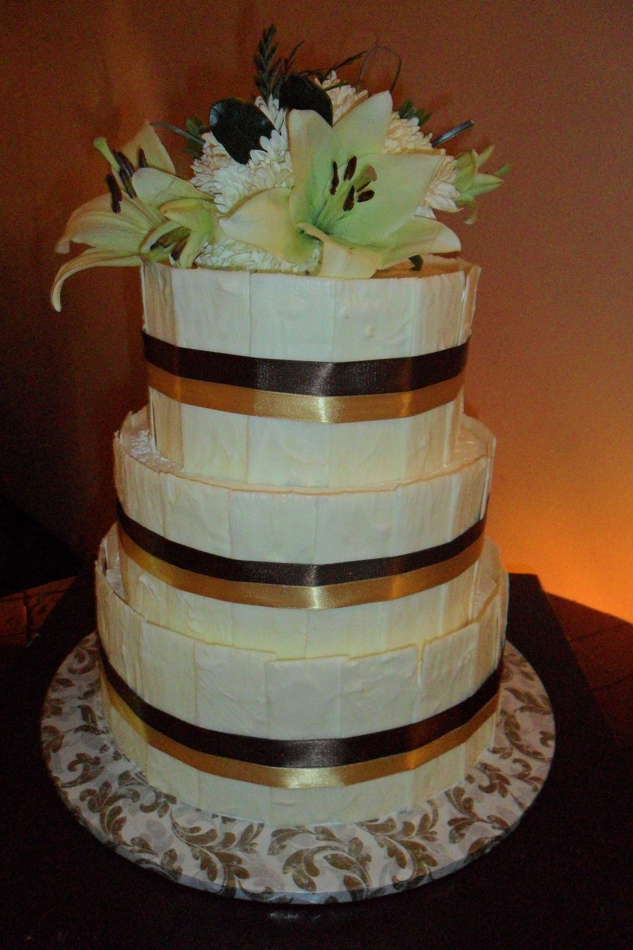 White Chocolate Wedding Cake on Cake Central