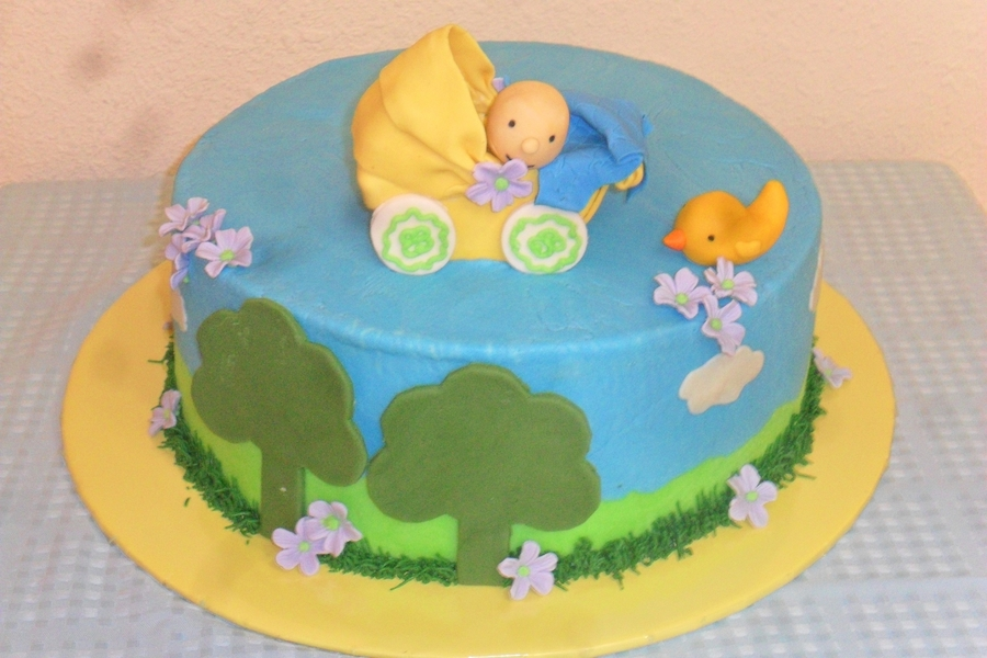 Baby Shower Cake Like The Invitation Of The Party on Cake Central