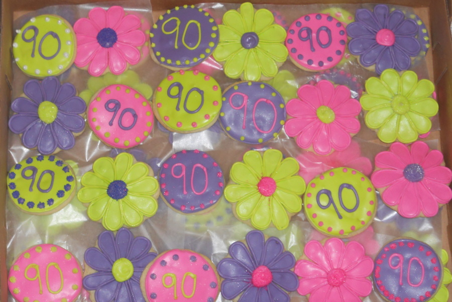 Flower Cookies For 90Th Bday on Cake Central
