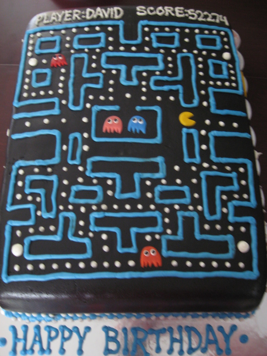 Pacman Sheet Cake on Cake Central