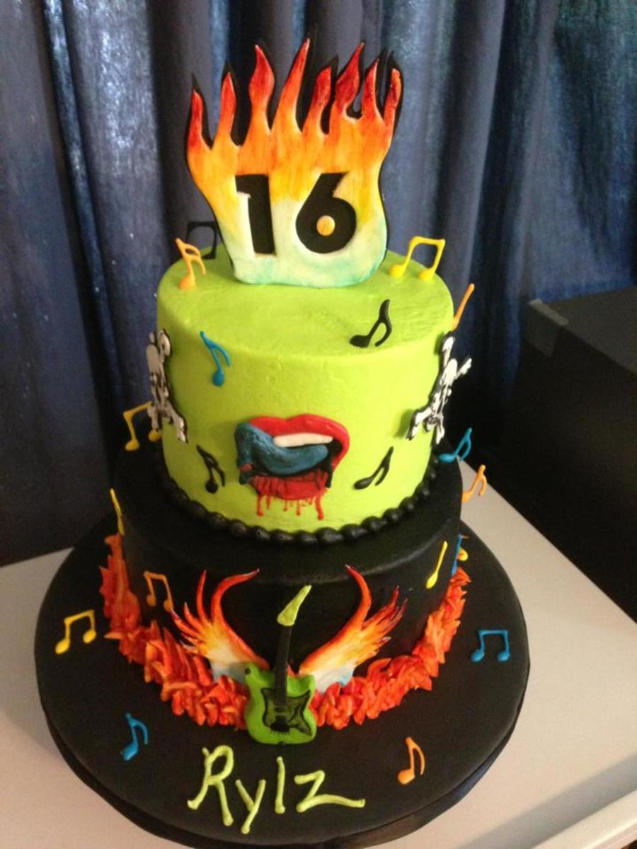 Astounding Rock N Roll 16Th Birthday Cakecentral Com Personalised Birthday Cards Vishlily Jamesorg