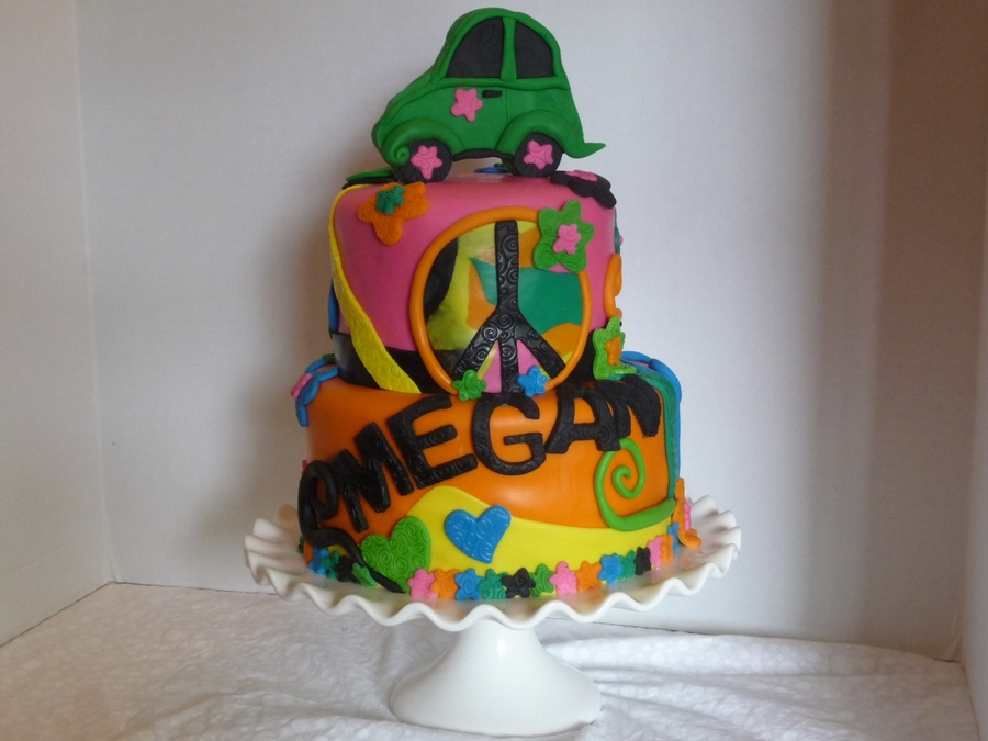 60s Hippy Birthday Cake Cakecentral