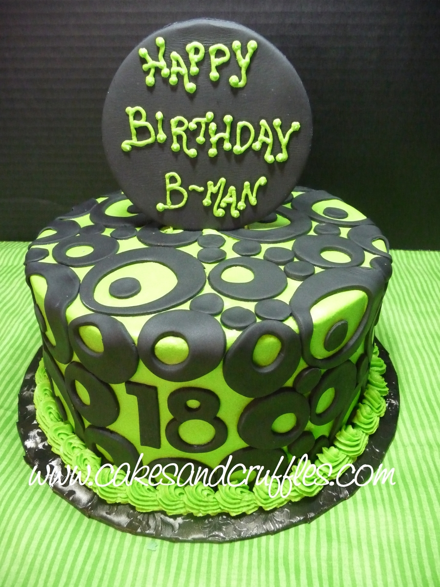 18Th Birthday - Lime Green & Black on Cake Central