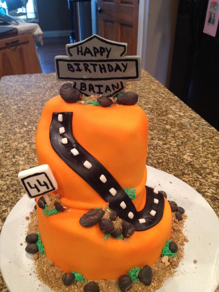 Harley-Davidson Theme Birthday Cake - CakeCentral.com