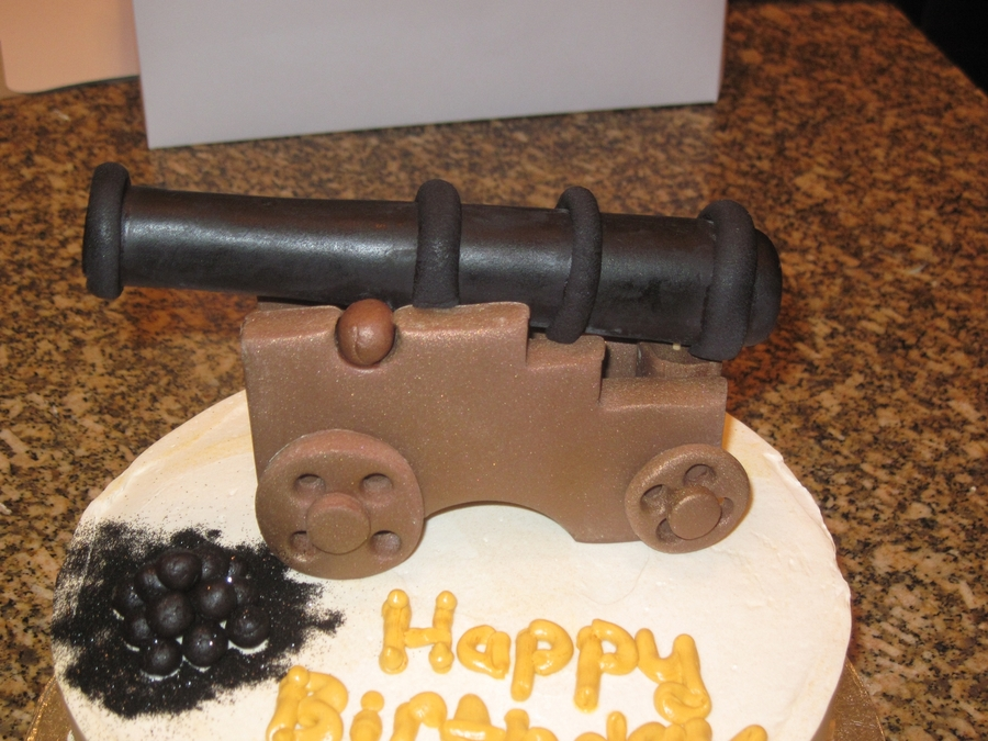 Cannon Theme Birthday Cake. on Cake Central