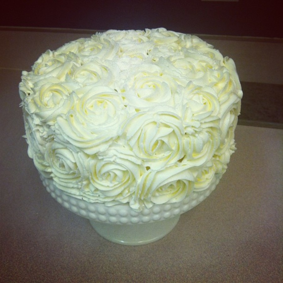 The Rose Cake From I Am Baker Red Velvet With Cooked Flour Frosting on Cake Central