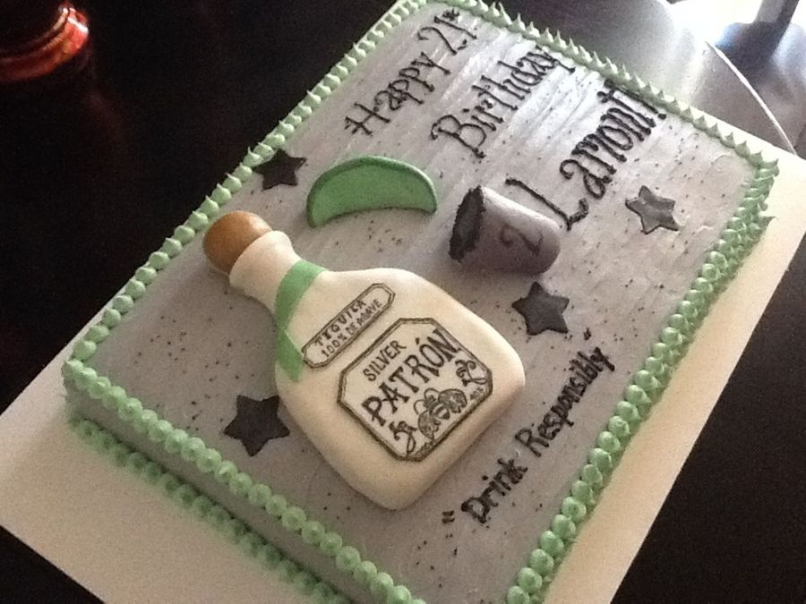 Patron Cake  on Cake Central