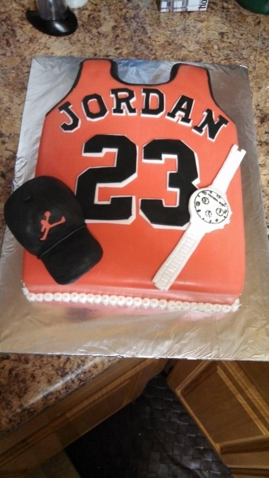Michael Jordan Jersey Cake CakeCentralcom