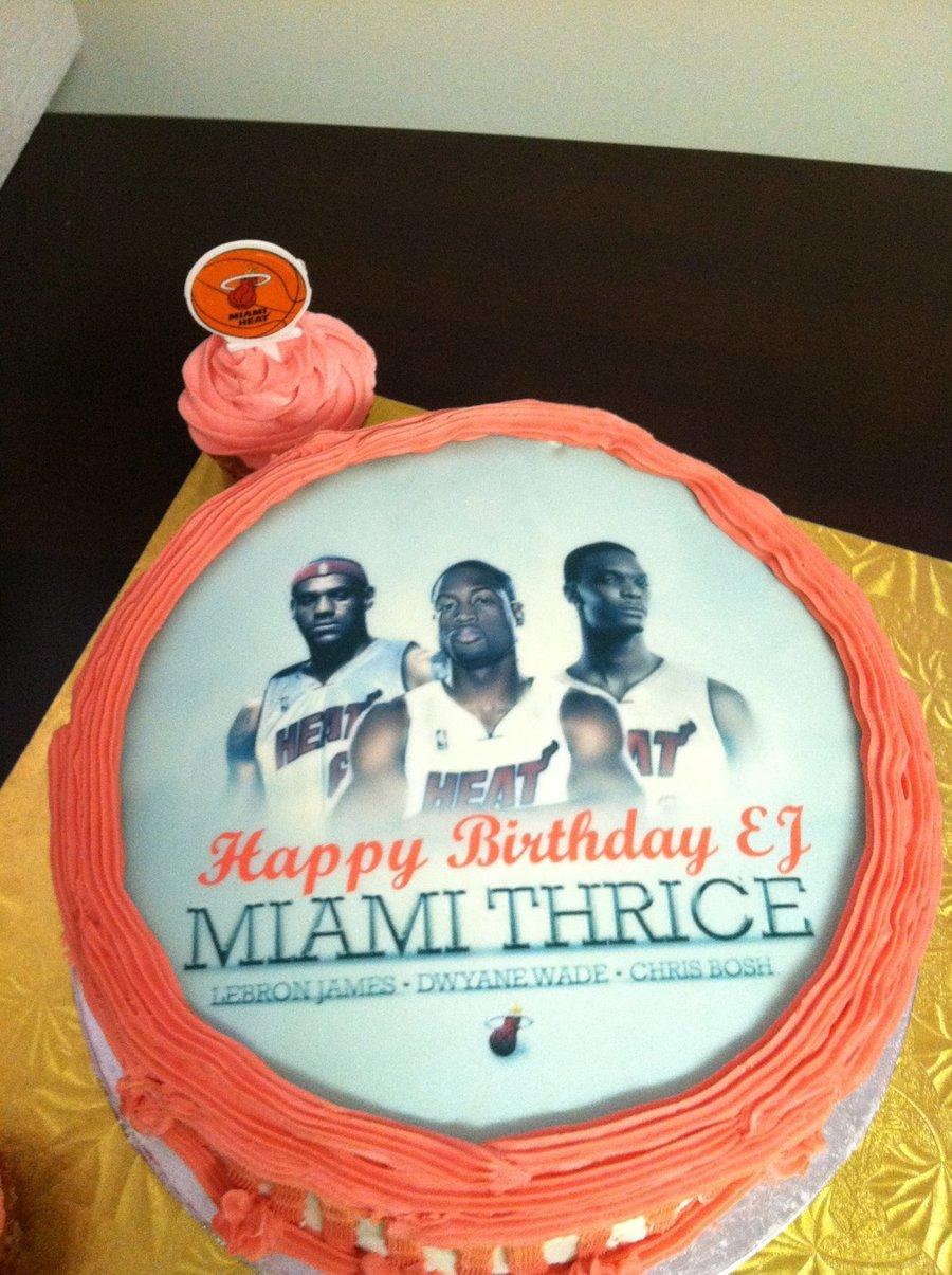 Miami Heat Birthday Cake Cakecentral Com
