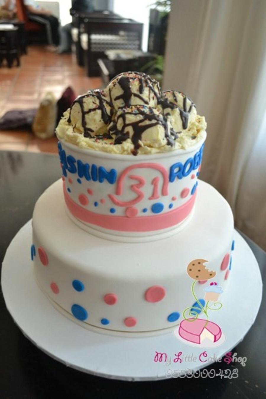 Phenomenal Baskin Robbins Cake Cakecentral Com Birthday Cards Printable Giouspongecafe Filternl