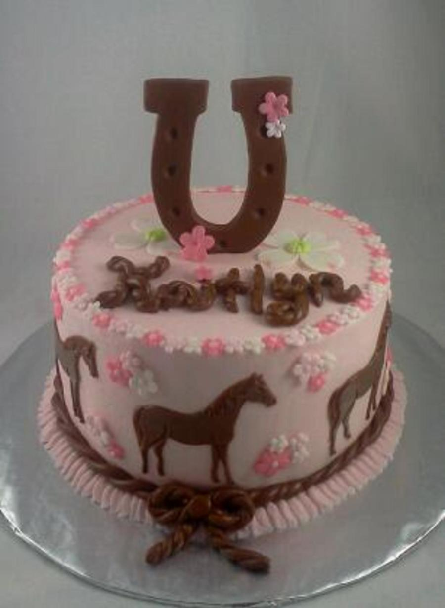 Pink And Brown Horse Cake Cakecentral Com