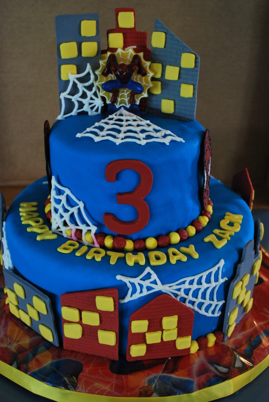 Spiderman 3Rd Birthday Cake - CakeCentral.com