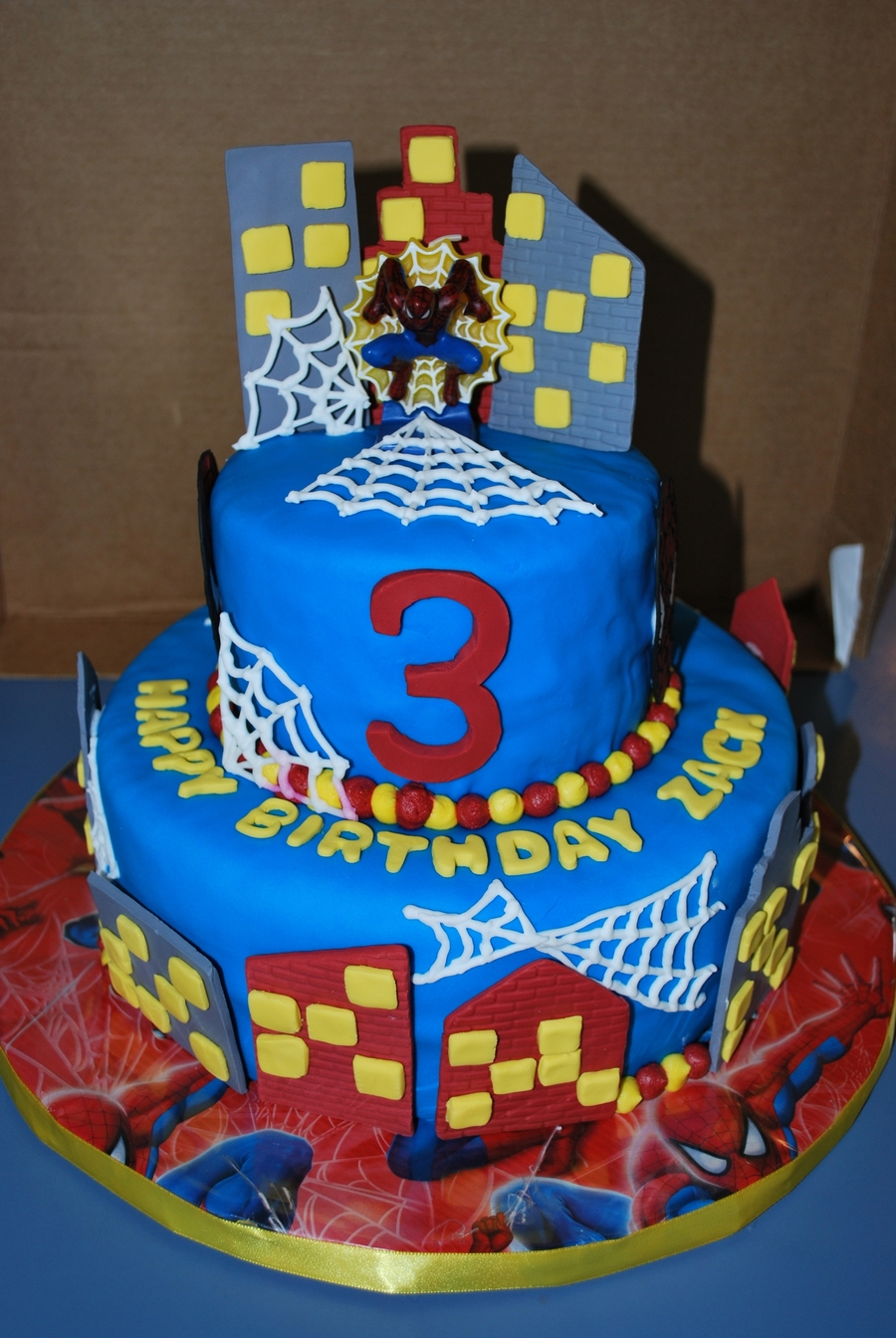 Birthday Cake Designs Spiderman : Spiderman 3Rd Birthday Cake - CakeCentral.com