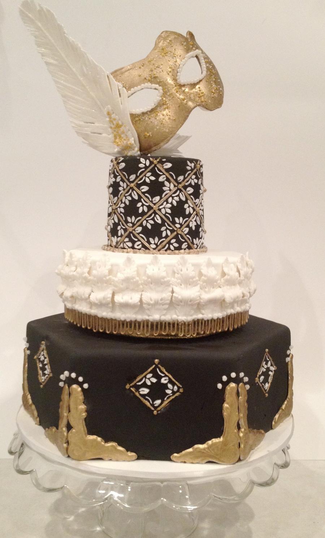 Masquerade Cakes Black And Gold