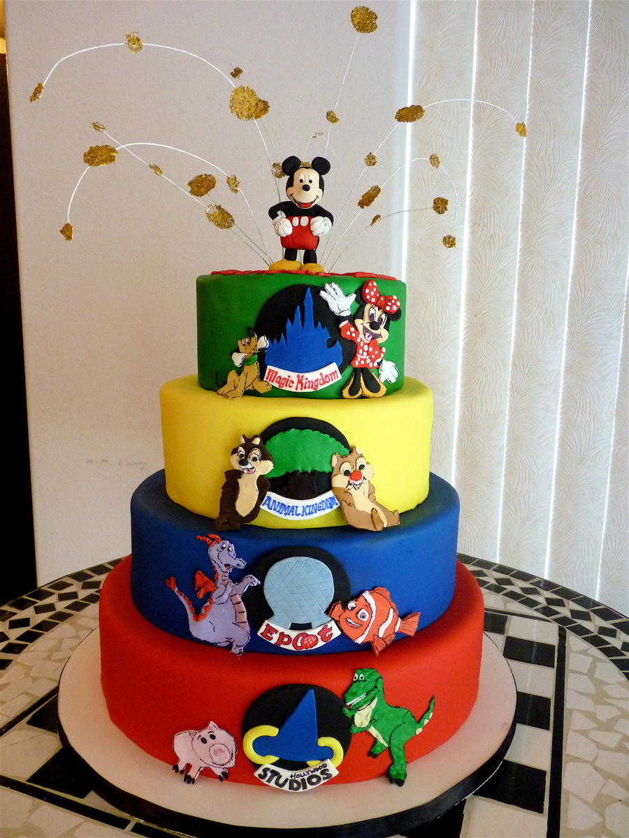Walt Disney World Four Parks On Cake Central