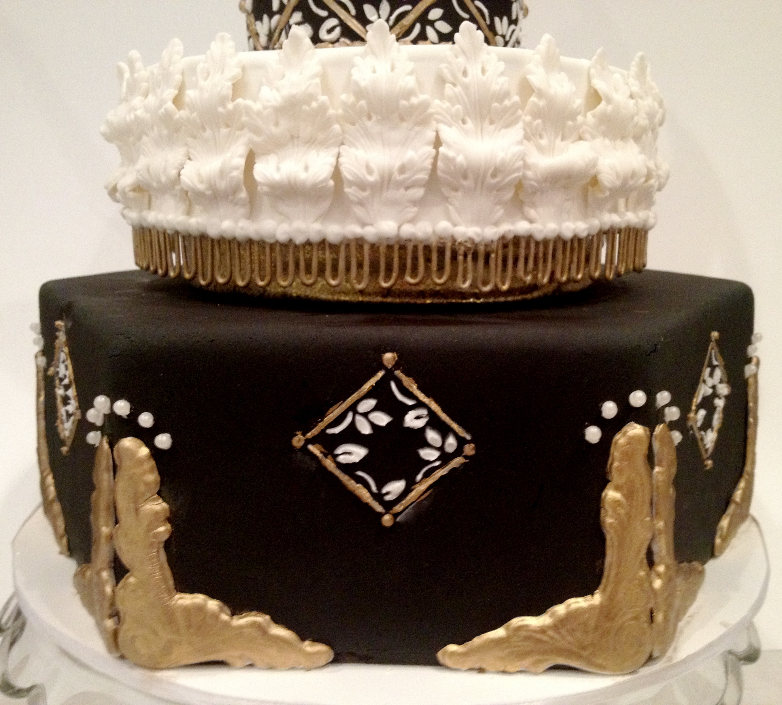 Black And Gold Masquerade Birthday Cake Cakecentral Com