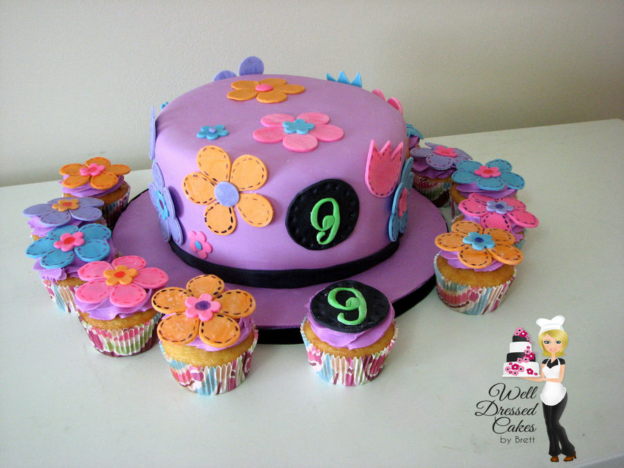 Flowerchild Cake And Cupcakes on Cake Central