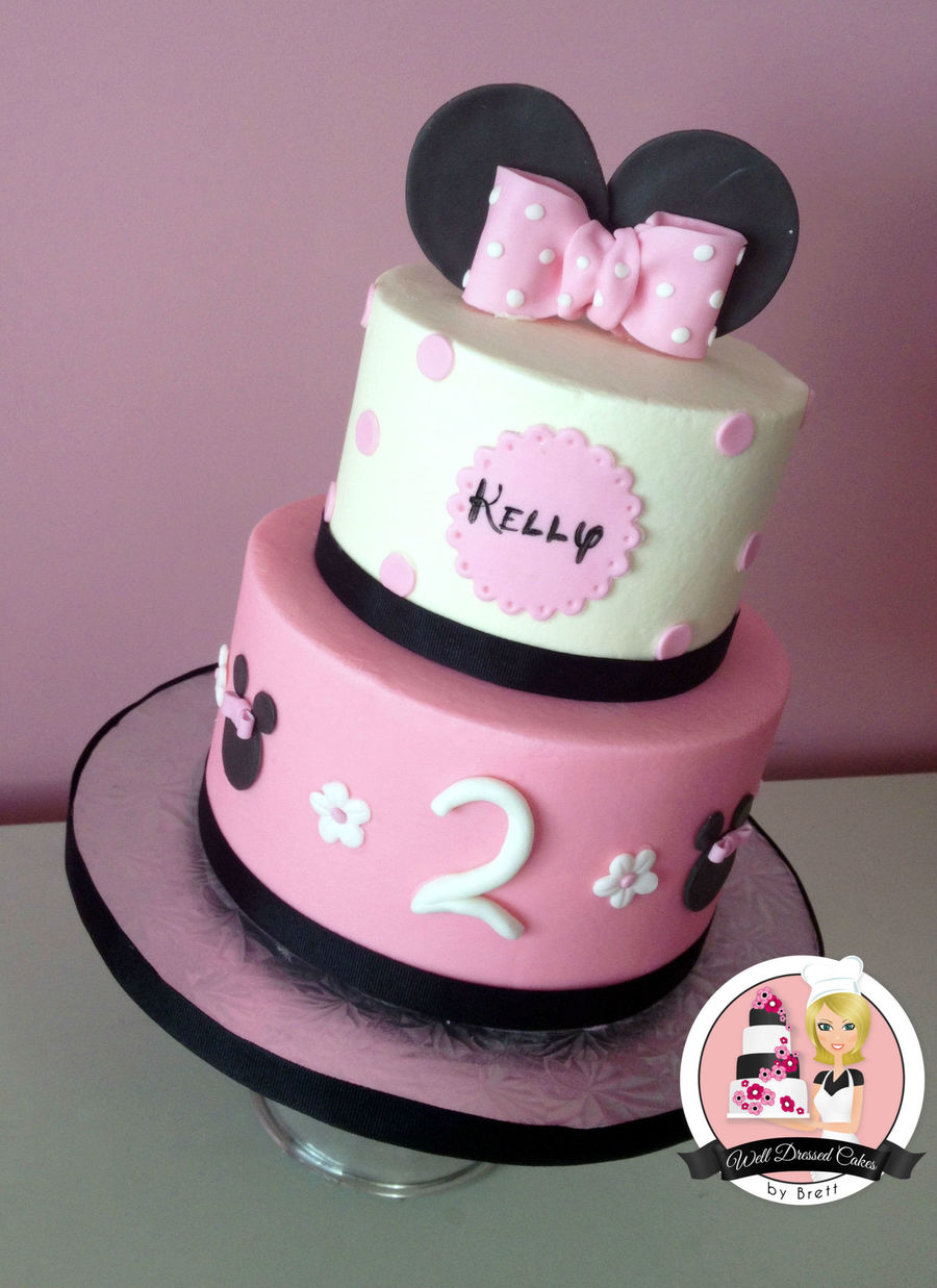 Excellent Simple Minnie Mouse Birthday Cake Cakecentral Com Funny Birthday Cards Online Alyptdamsfinfo