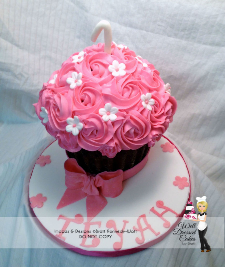 Pink Giant Cupcake Smash Cake on Cake Central