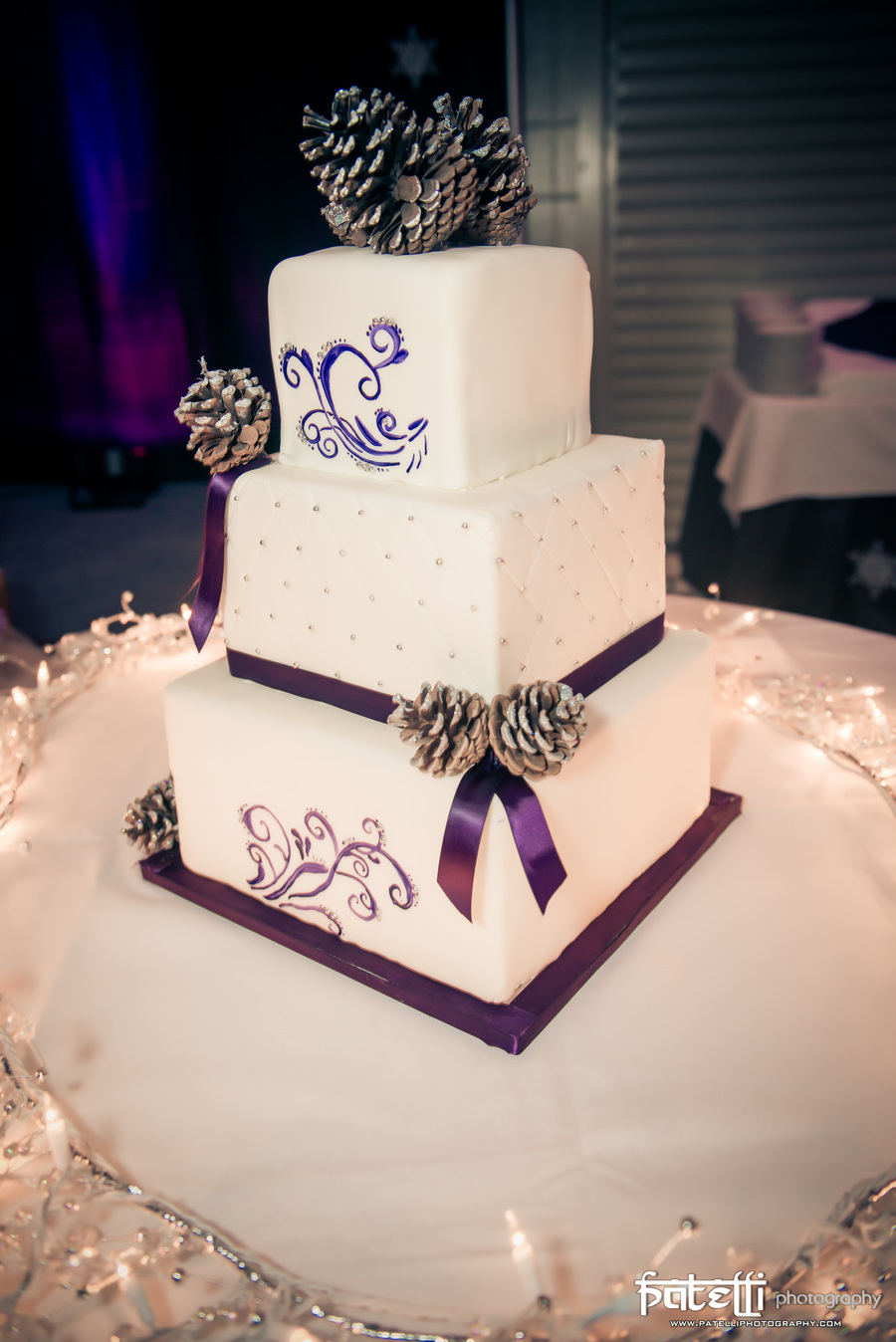Winter Wedding Cake! on Cake Central