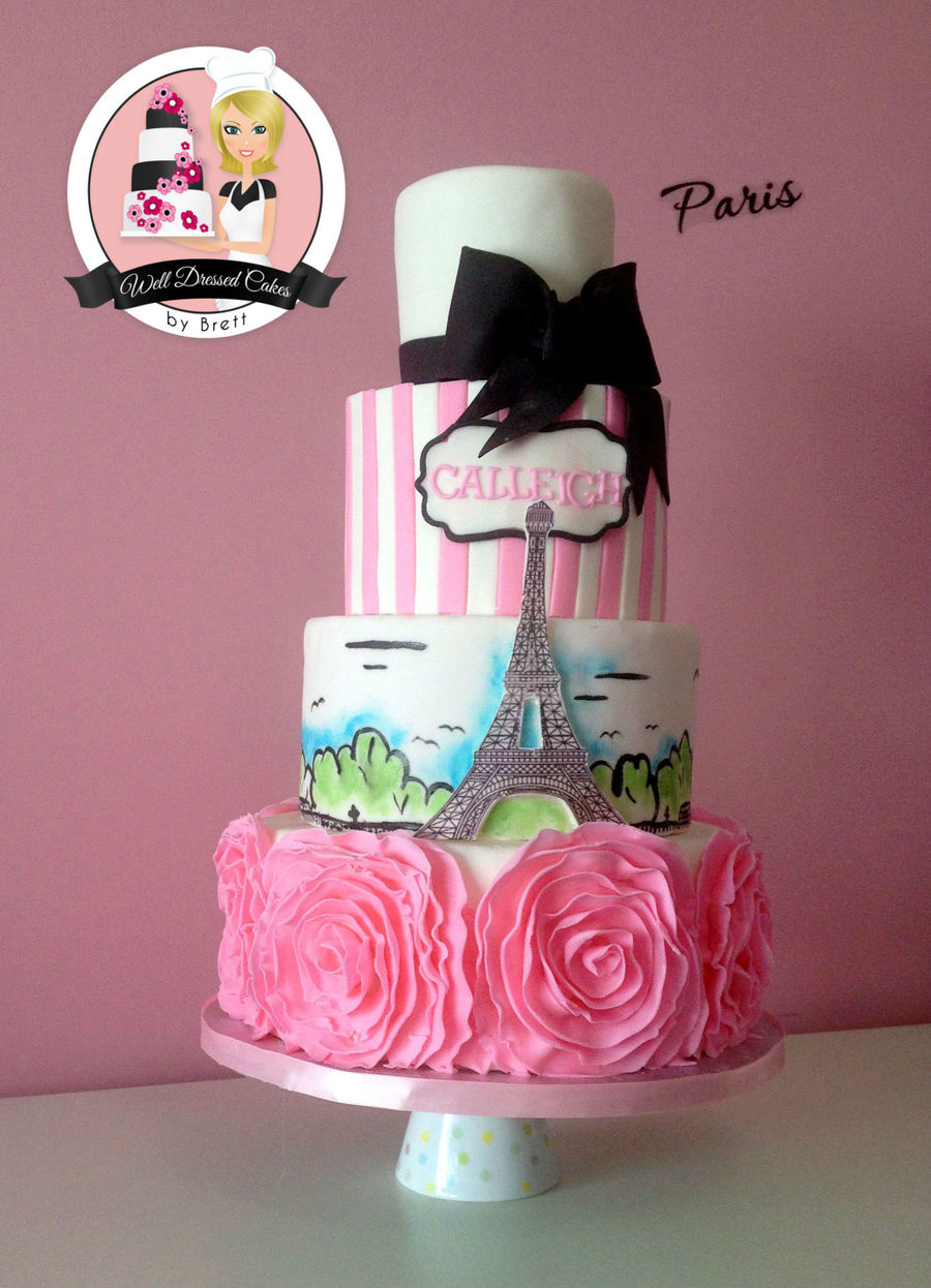 Paris Eiffel Tower Birthday Cake Cakecentral