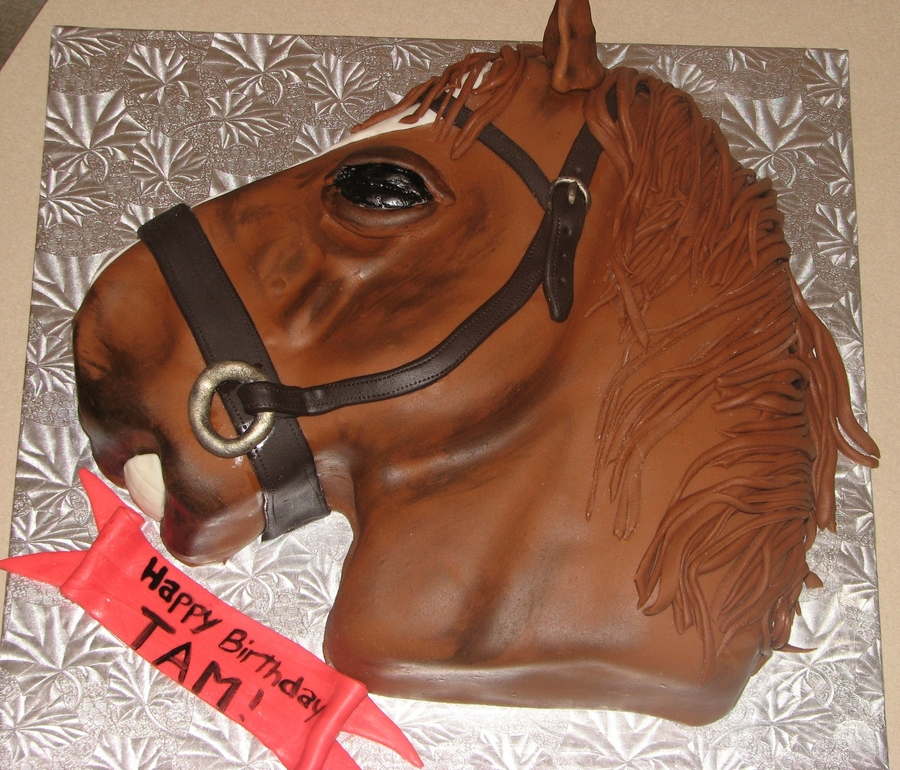 3D Horse on Cake Central