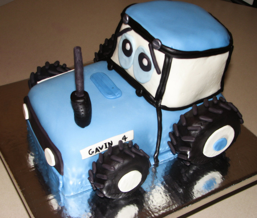 Ford Blue Tractor Cake Cakecentral Com