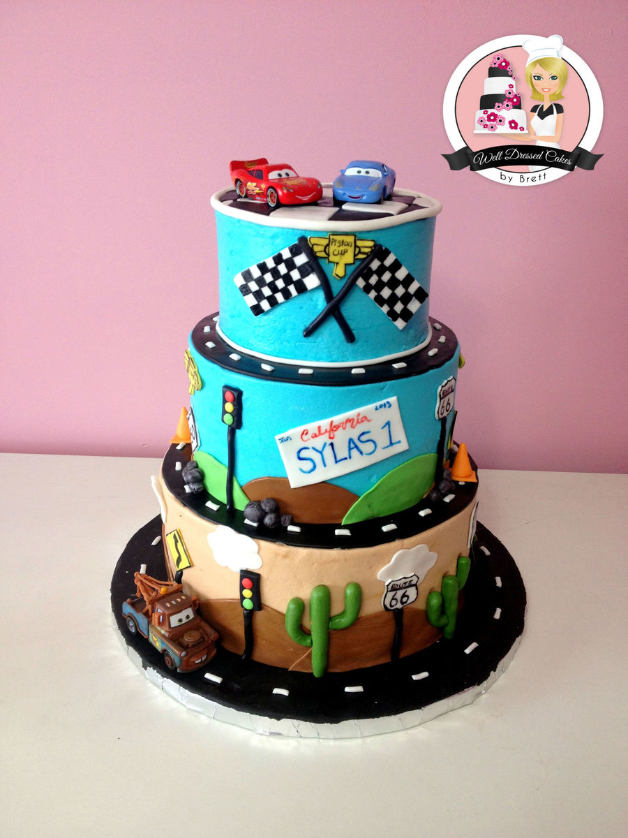 Disney Cars 1St Birthday CakeCentralcom