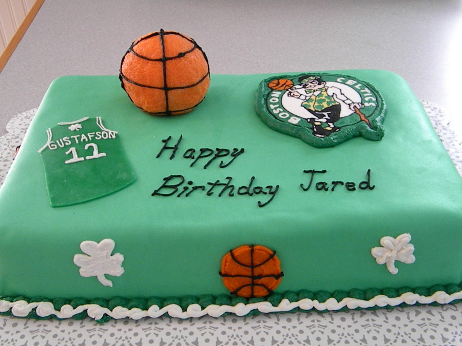 Boston Celtics Kids Birthday Cake CakeCentralcom