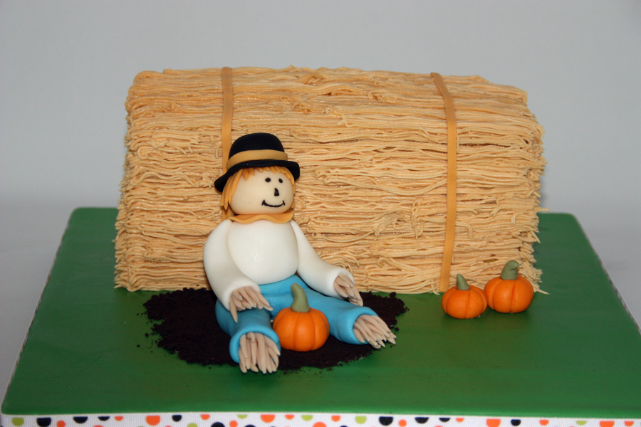Hay Barrel And Scarecrow on Cake Central