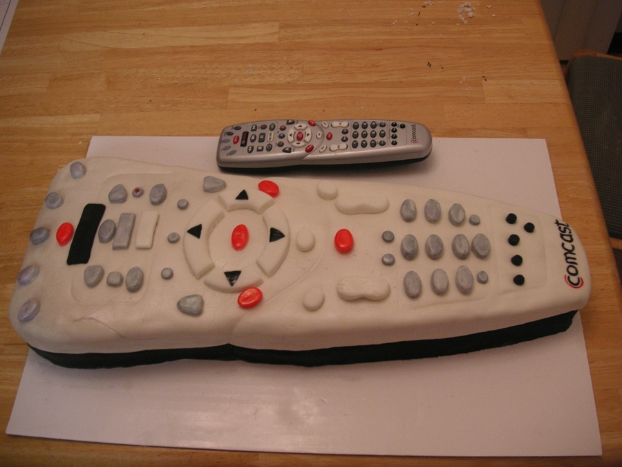 Comcast Remote on Cake Central