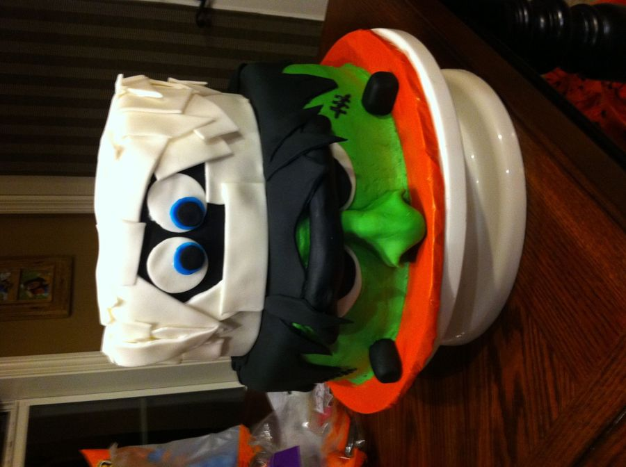 Mummy And Frankenstein on Cake Central