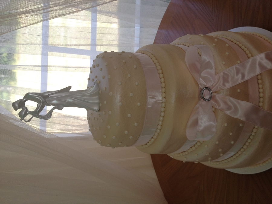 Champagne Wedding Tiers on Cake Central