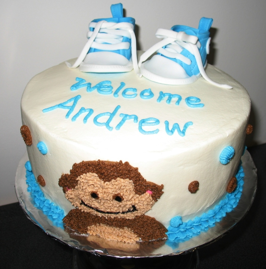 Baby Converse And Monkey Cakecentral