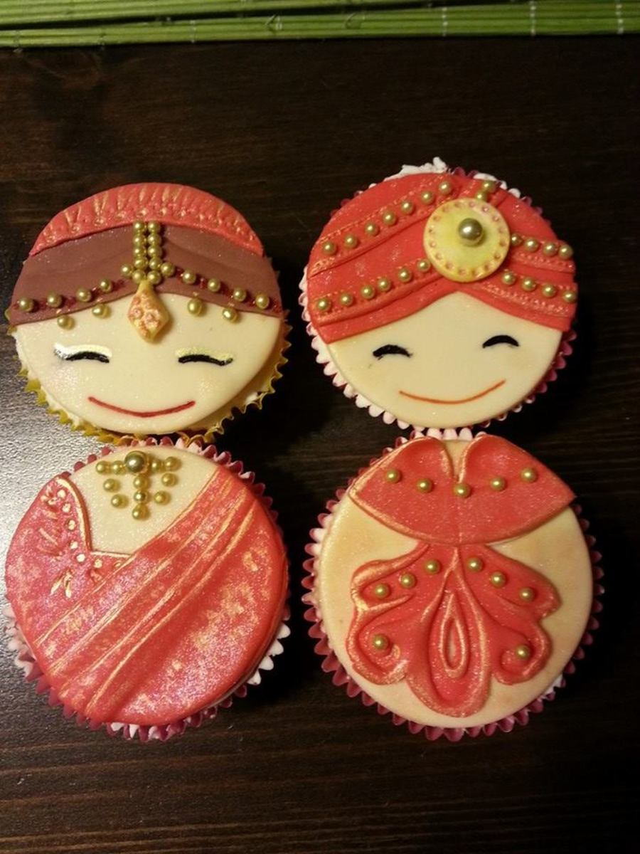 Indian Bride And Groom Cupcakes Cakecentral Com