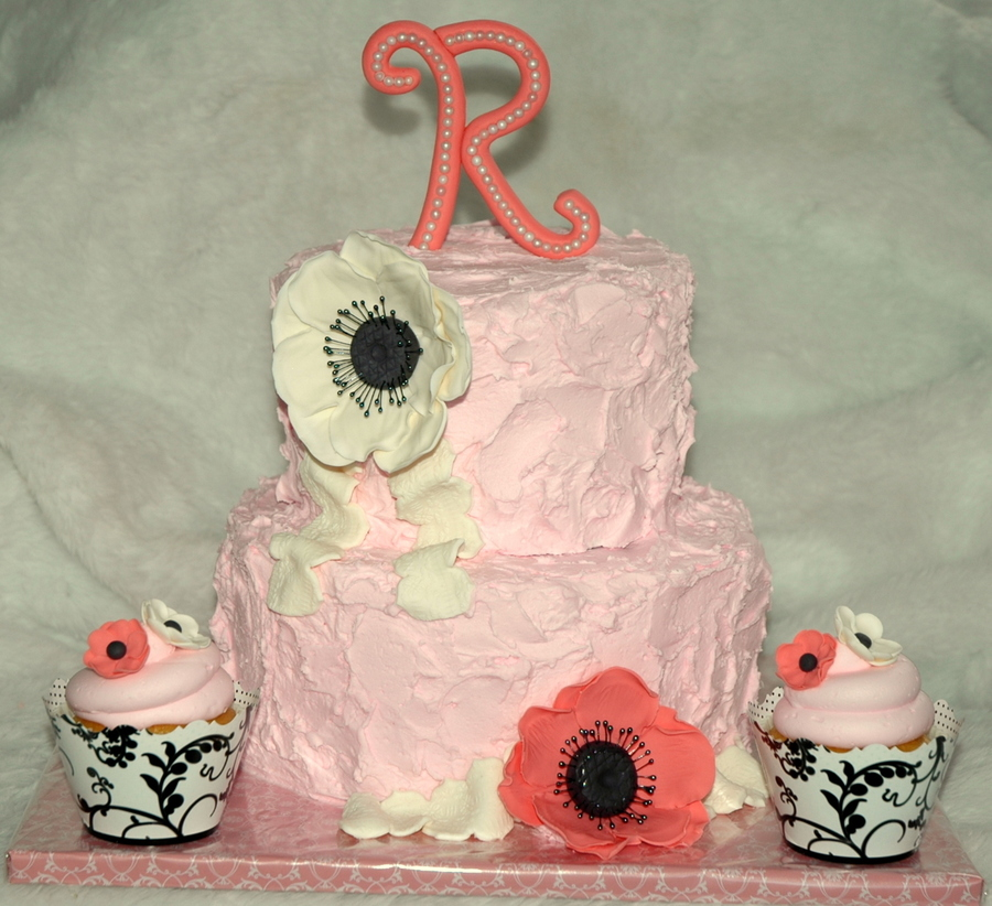 2 Tier Shabby Chic Cake on Cake Central