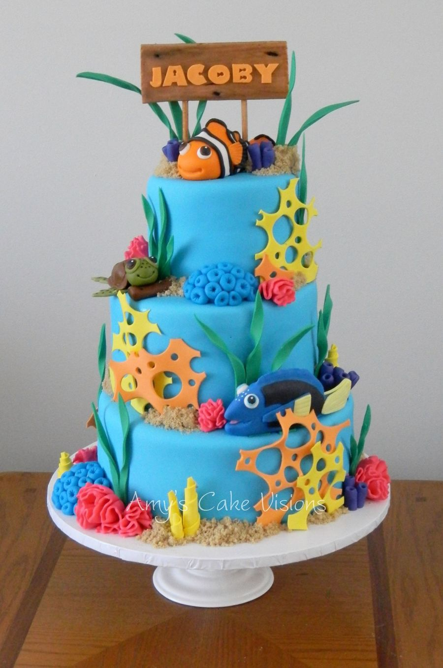Incredible Jacobys Under The Sea Cake Cakecentral Com Funny Birthday Cards Online Overcheapnameinfo