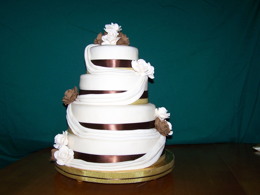 Katherine's Wedding Cake on Cake Central